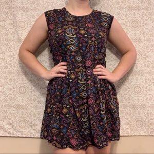 Forever 21 Southwestern Geometric Sleeveless Dress